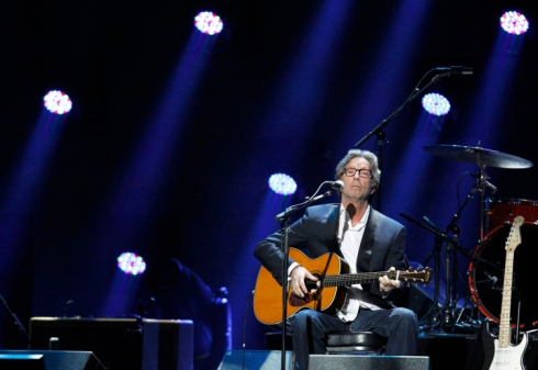 Eric Clapton performs at 12-12-12 benefit concert for Sandy victims and survivors