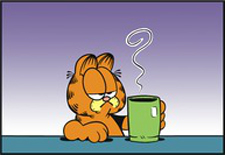 garfield morning coffee