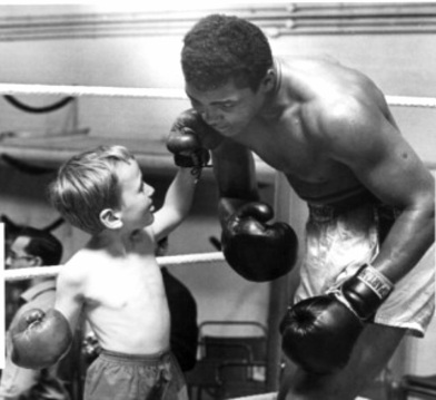 ali and boy in ring