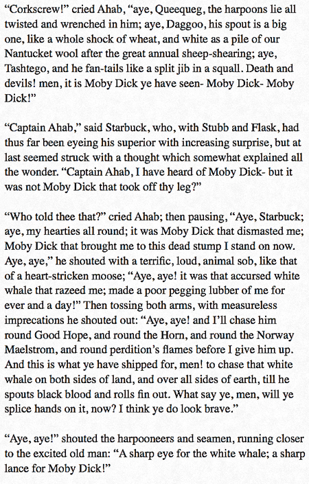 moby dick ahab